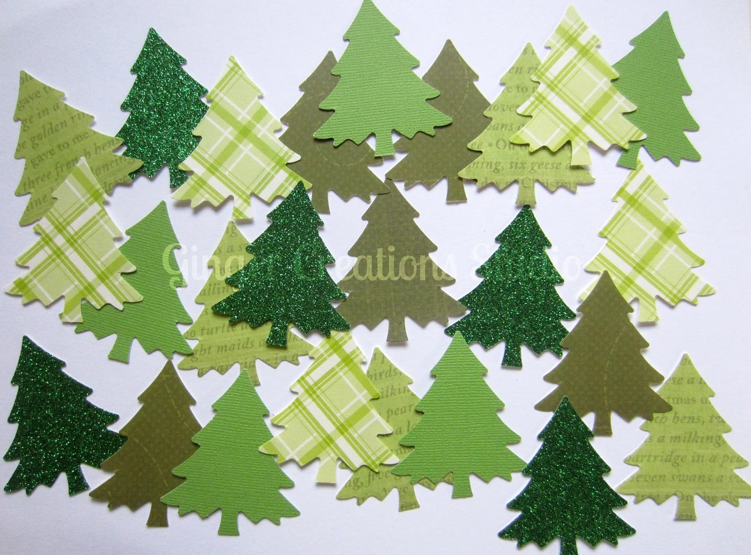 Christmas Tree Die Cut Weddings Christmas Tree Die Cut Christmas Garland - GingerCreations
