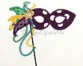 Mardi Gras Mask Embroidery Design Machine Applique - theappliquediva