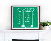 Grow Your Own Seasonal Planting Calendar in Emerald Green - decorative screen print - boldandnoble