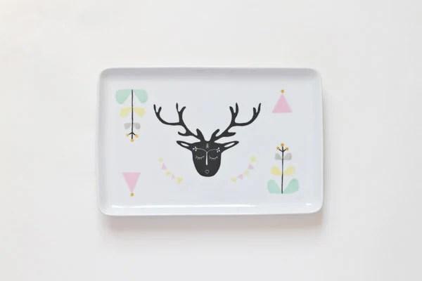 Oh deer serving platter