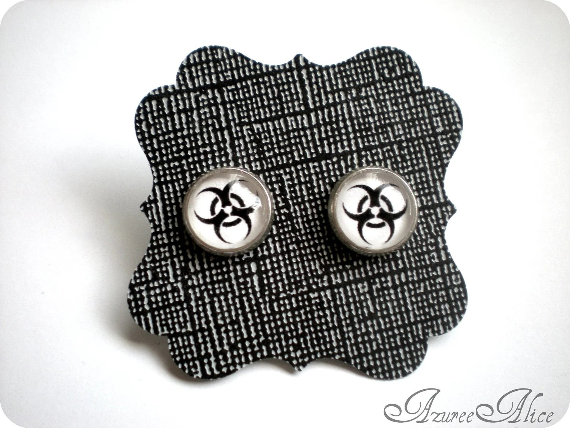 Biohazard Earrings