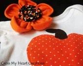 Halloween Onesie and Flower Headband Set - CrossMyHeartStore