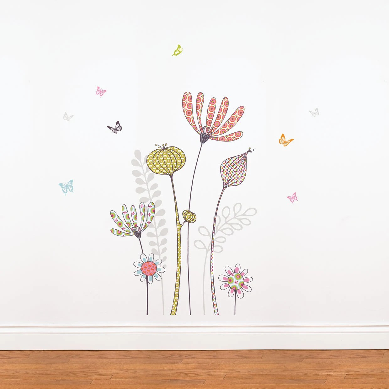 Flowers and Butterflies - kid wall decal - miaandcoADzif