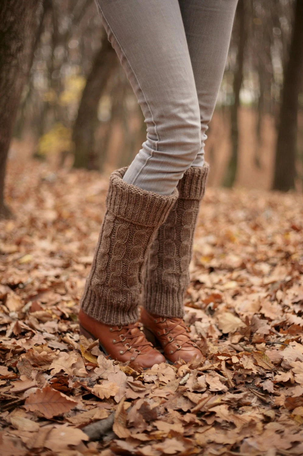 Brown Hand Knit Leg Warmers Boot Cuffs Boot Warmers Boot Toppers Fall colors knitted warm Accessories Women ready for shipping