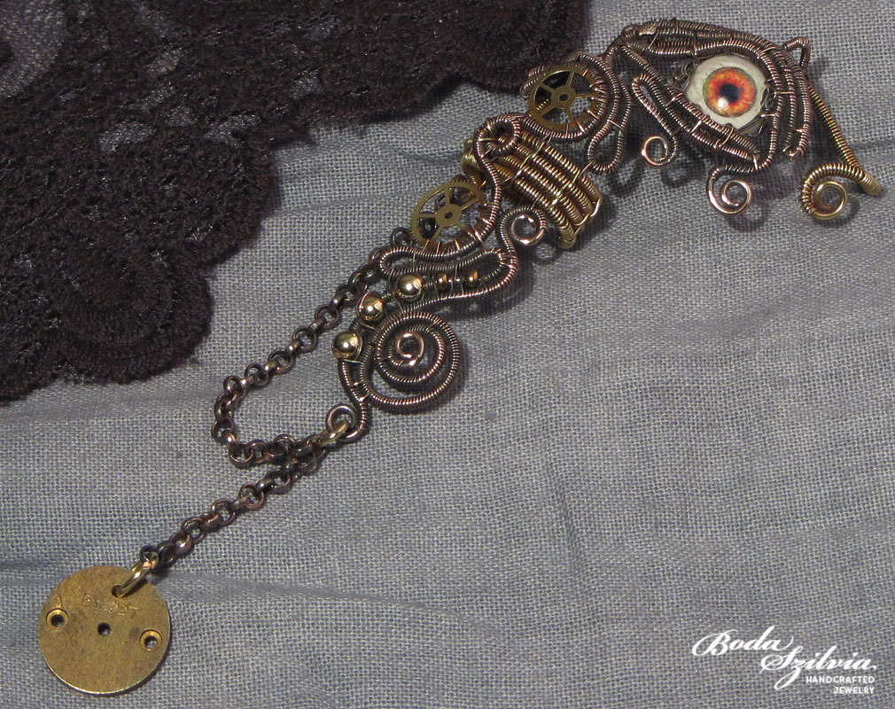 WATCHER - OOAK steampunk ear wrap