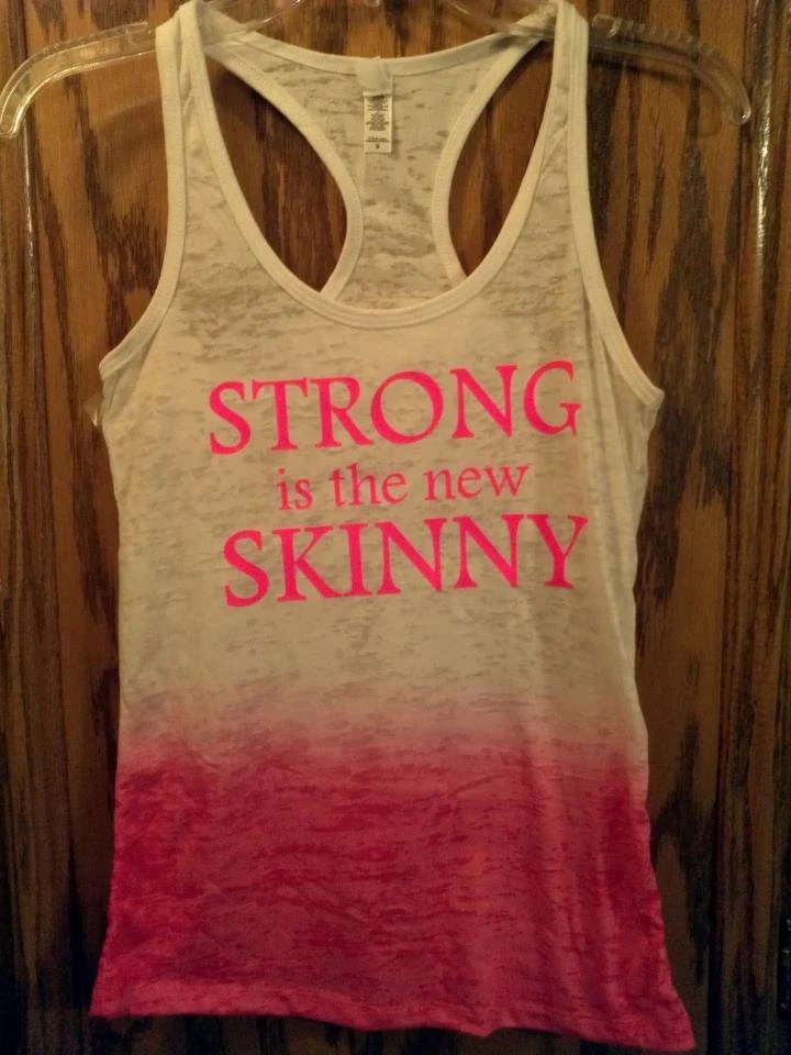 Strong Is The New Skinny Ombre pink tank