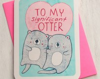 Valentine's Day Card - To My Significant Otter - Valentines Day Card