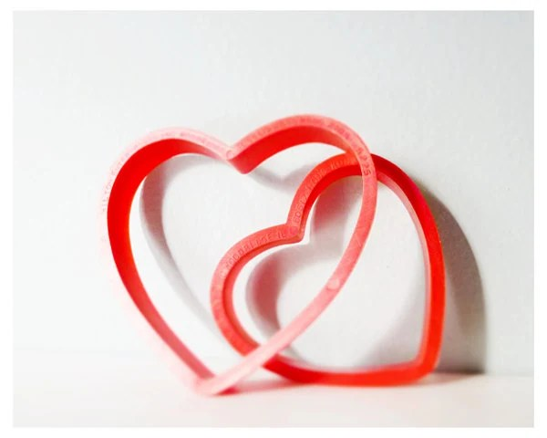 Two hearts vintage cookie cutters - simple pretty and sweet - thecupcakekid