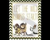 Where the Wild Things Are - Let the Wild Rumpus Start Printable Art - scootapie