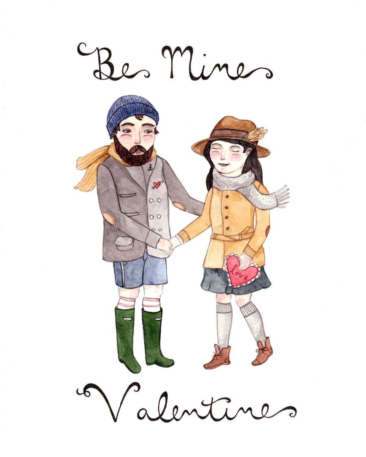Be Mine Original Illustration - thelittlecanoe