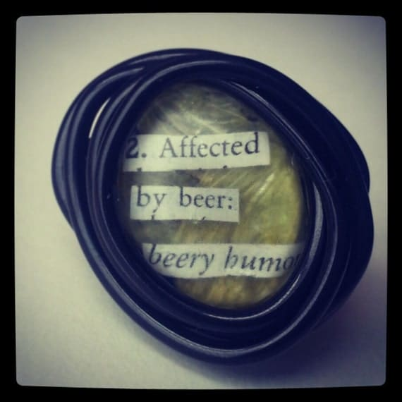 Dictionary Hop Ring by BreweryFerment on Etsy