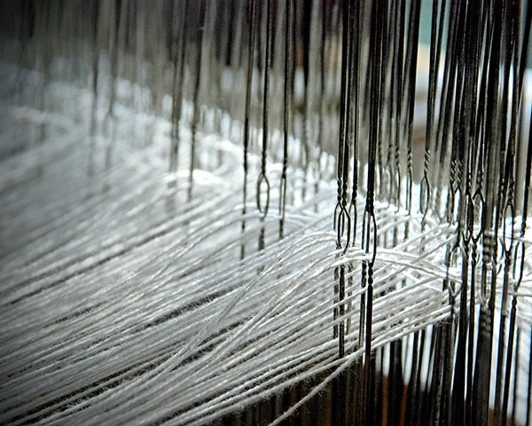 Weaving Loom Heddles and Warp Threads photo