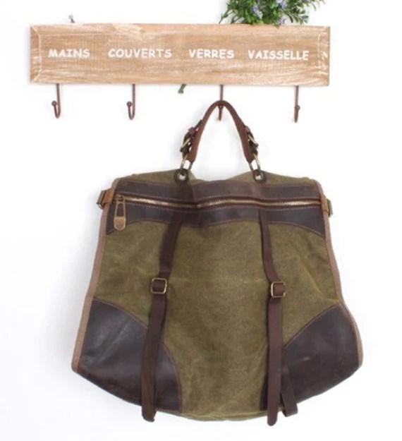 Kelly Canvas-Leather Tote/ Shopping bag / Shoulder Bag/ Woman bag/ Leather Satchel/Canvas bag