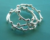 Delicate Twig Stacking Ring Set - Sterling Silver