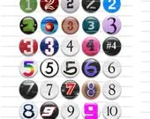 NUMBERS 1-10 round Digital Images