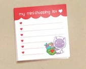 My mini shopping list - 3M Post-It Notes - Set of 3 of 50 pages each - hautecards