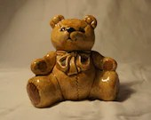 SALE Teddy Bear Piggy Bank