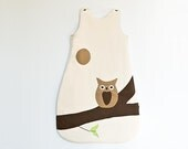 Organic Sleep Sack, Goodnight Owl, for Babies 6mo to 18mo (Organic Cotton) READY to ship