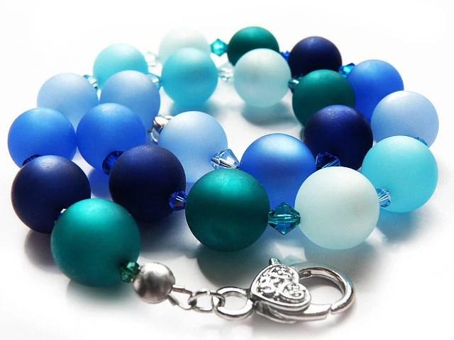 The Ocean with Swarovski Chrystallized and Polaris-Beads