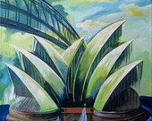 Painter and Artist SIGNED ORIGINAL ARTWORK  Sydney Harbor and Harbor Bridge artists painting