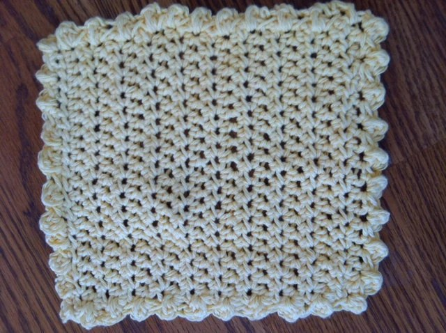 Wash Cloth - Dish Cloth - Handmade - off white