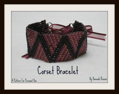 steampunk corset bracelet beading pattern