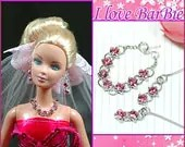 barbie doll jewelry set barbie rhinestone necklace and earring