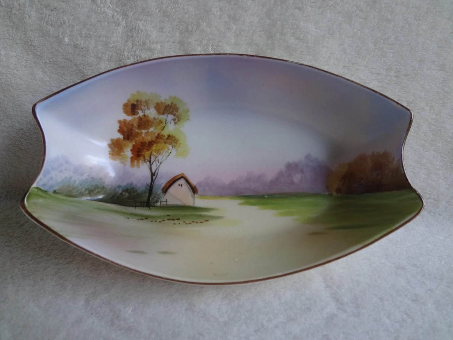 Noritake Hand Painted Serving Dish Nippon