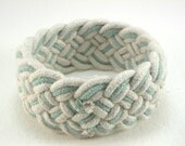 white & sky blue turks head knot sailor rope bracelet medium 1842