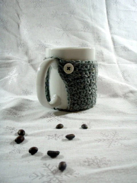 Coffee Mug Cozy - Grey - CrimsonMosquito