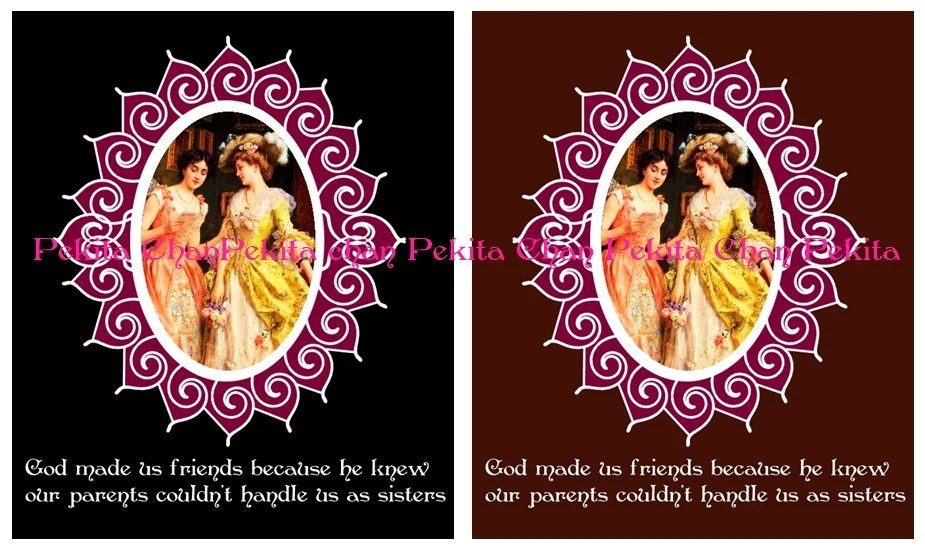 Friends (girlfriends) Lovely postcards, Valentine's Day Cards, Print yourself PDF, MS Word File
