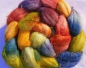 Roving Hand painted Merino and Silk 103g