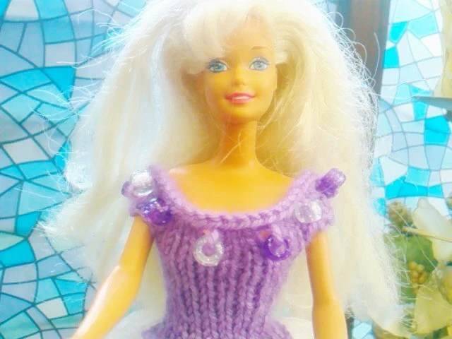 New Handmade  BARBIE DOLL CLOTHES  Ballgown designed and made by nannycheryl  907 x 77