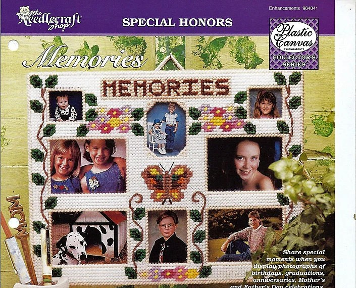 Memories Multiple Photo Frame Plastic Canvas Pattern the Needlecraft Shop 964041