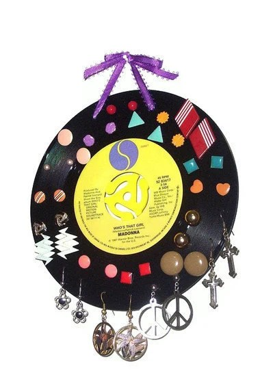 Record Earring Jewelry Display - Every Breath You Take by Police