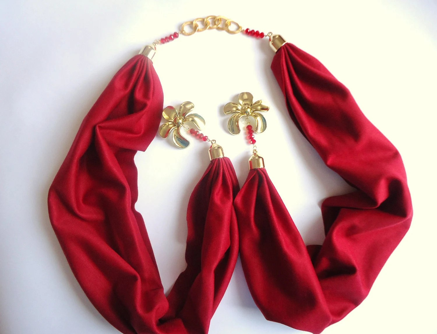 Red Scarf  ,Women Accessory, Jersey Scarf ,  2012, Spring trends and Fashion,
