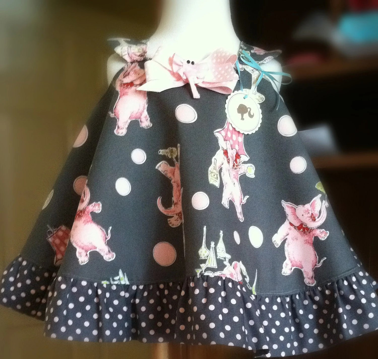 Childrens Spring Custom Party Dress Newborn-18mo
