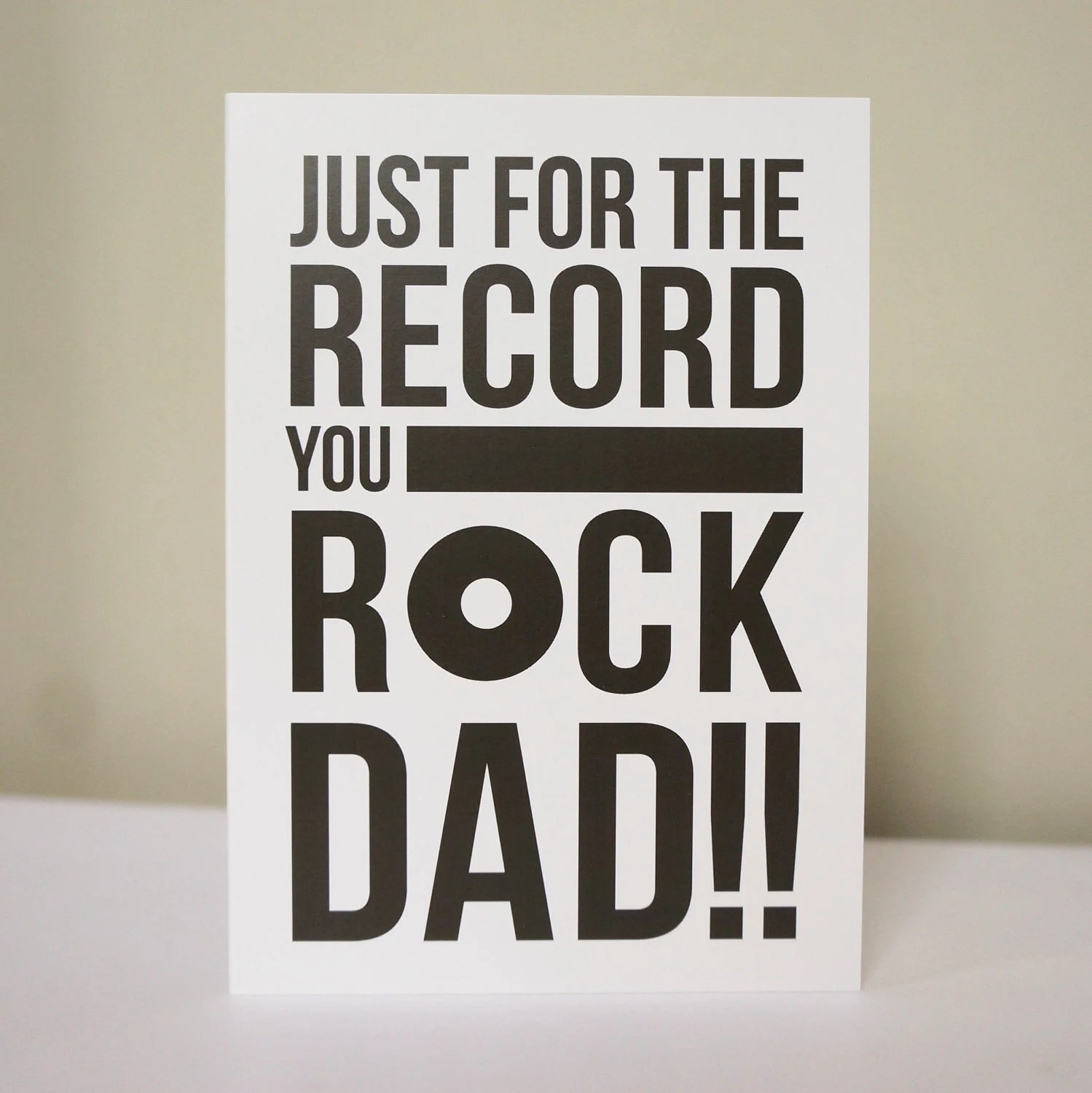 You Rock Dad Fathers Day Card - doodlelove