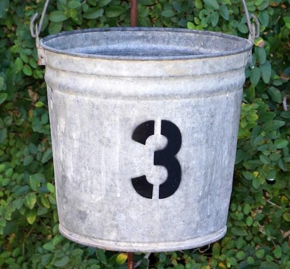 Industrial Bucket Number 3 by Junk Genius on Etsy