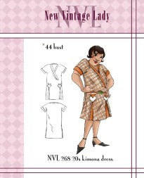 NVL 1920s flapper kimono sleeved dress 44 bust PLUS SIZE