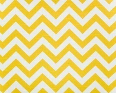 Decorative Designer Fabric-Yellow And White Zig Zag-1 yard