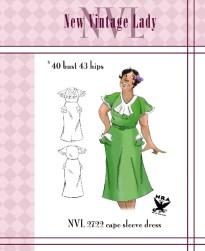 NVL 1930s Balboa Dress 40 bust NRA edition Plus Size