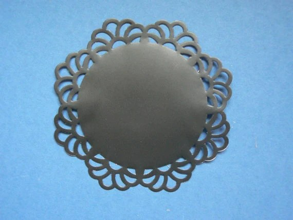 "Chalkboard Doily Stickers - 4"" Large - Set of 5"