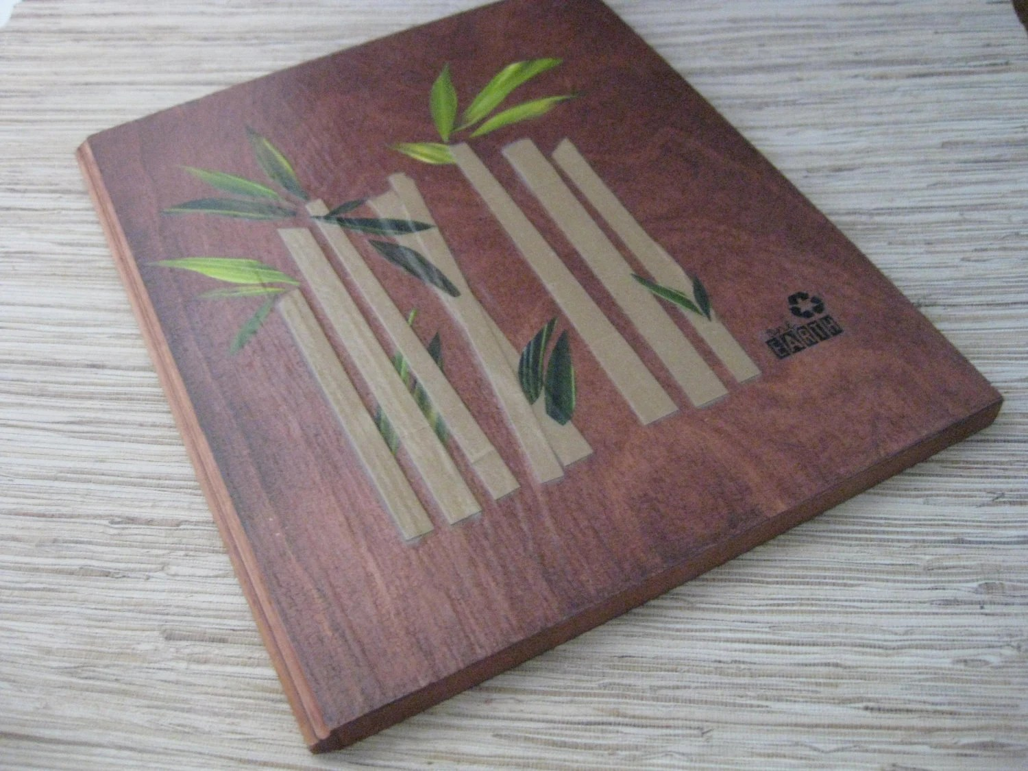 Wall Art made from recycled wood & materials - Bamboo Zen 5 dollar shipping sale