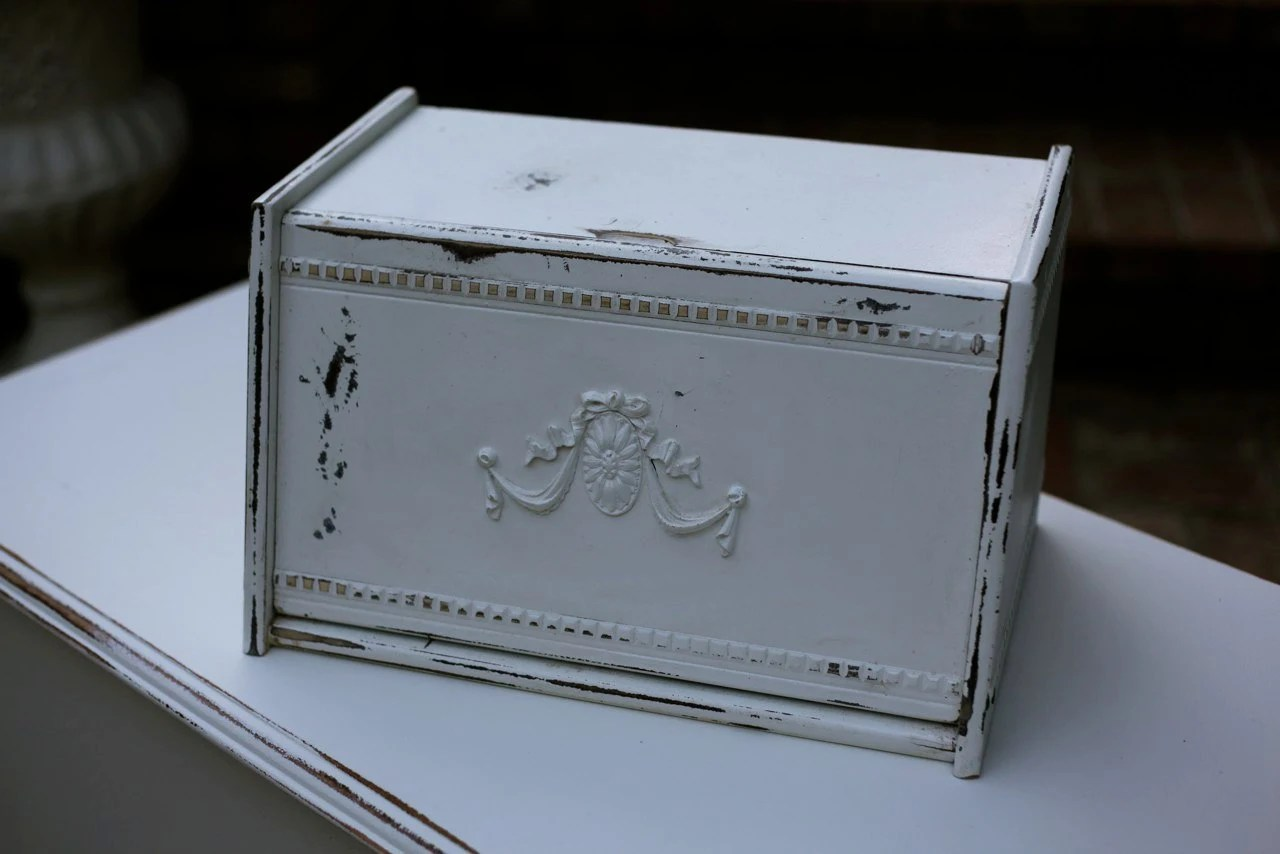 Shabby Chic Bread Box --- new to ETSY