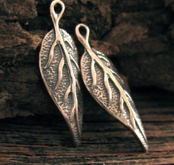 organic leaf charms