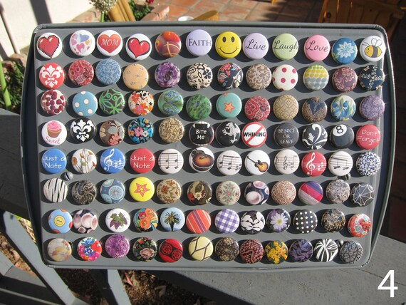 1 Inch Button Magnets - You Choose a Set of 6 - Fits Magnabilities
