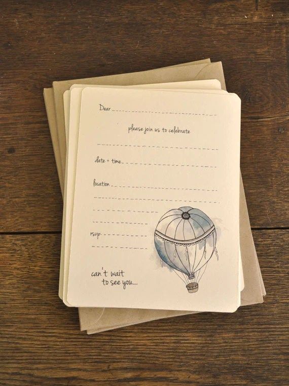 Hot Air Balloon Invitation by AnAprilIdea
