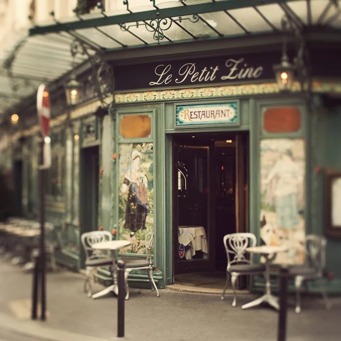 Le Petit Zinc - Paris Photograph, St Germain Des Pres, Cafe, Bistro, Chairs, Home Decor, Fine Art Print