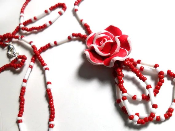 Red Rose Necklace - $9.95